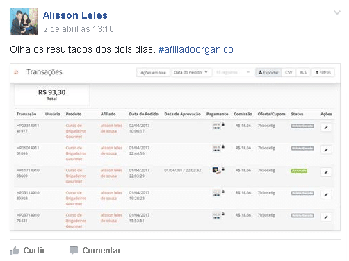 Depoimento do Alisson Leles